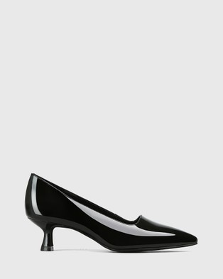 Wittner Gavina Patent Leather Stiletto Heel Pumps All Black