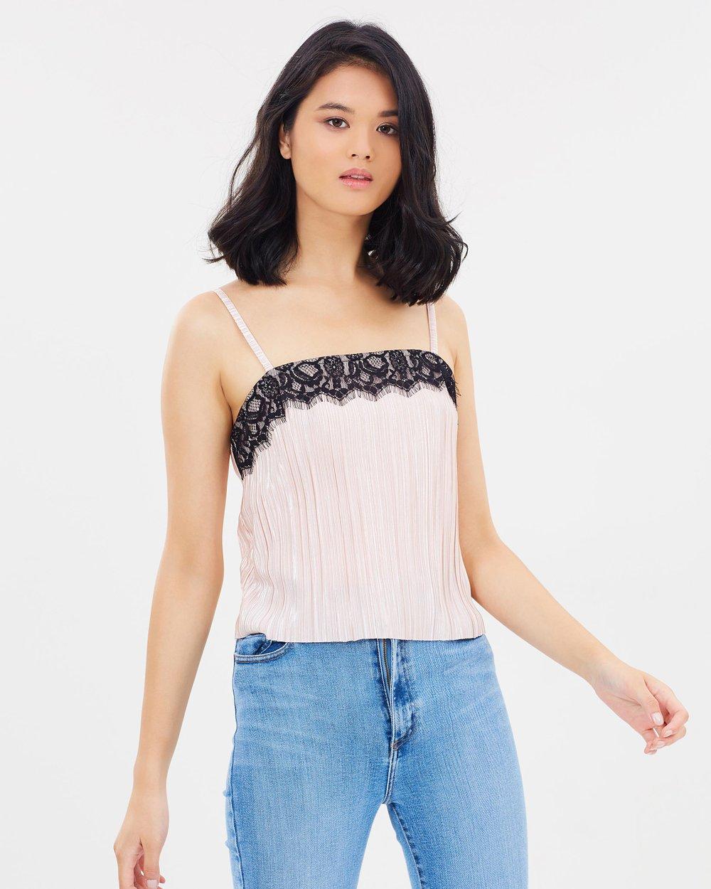 6639f927a4 Lace Trim Cami Top by Miss Selfridge Online