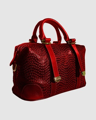 Lux Haide Tapestry Tote Handbag - Outdoors (Red)