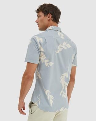 SABA Sanchez Short Sleeve Classic Shirt - Casual shirts (stone)