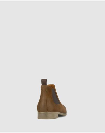 Zu Boston Leather Chelsea Boots Tan