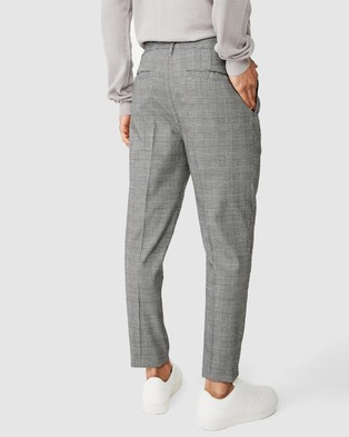 Cotton On Oxford Trousers - Pants (Black Prince of Wales)