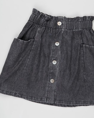 Free by Cotton On Ava Skirt   Teens - Clothing (Black Wash)