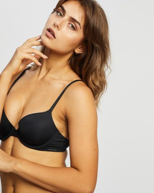 Calvin Klein Perfectly Fit Flex Lightly Lined Demi Bra - Lingerie (Black)