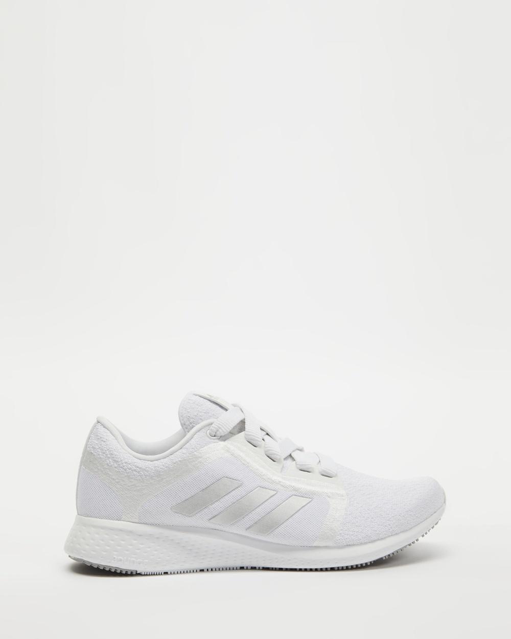 adidas Performance Edge Lux 4 Women's Running Shoes Cloud White, Metallic Silver & Grey Two Australia