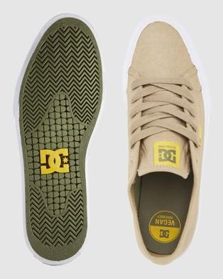 DC Shoes Mens Manual Shoe - Sneakers (TAN 1)