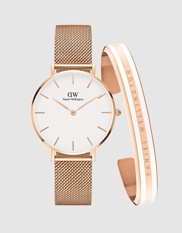 Daniel Wellington - Gift Set - Petite Melrose 32mm + Slim Bracelet Satin Small