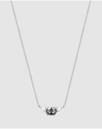 Elli Jewelry - Necklace Pearl Swarovski® Crystals Black 925 Sterling Silver