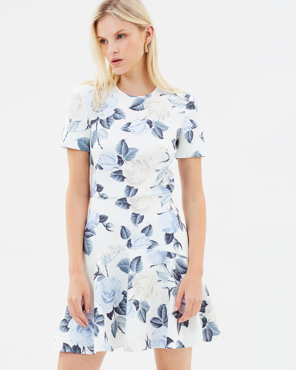 Lover Rosa Flip Mini Printed Dresses Grey Rose Rosa Flip Mini
