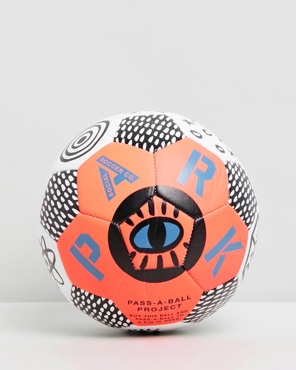 PARK Soccer Ball Training Equipment Neon Orange