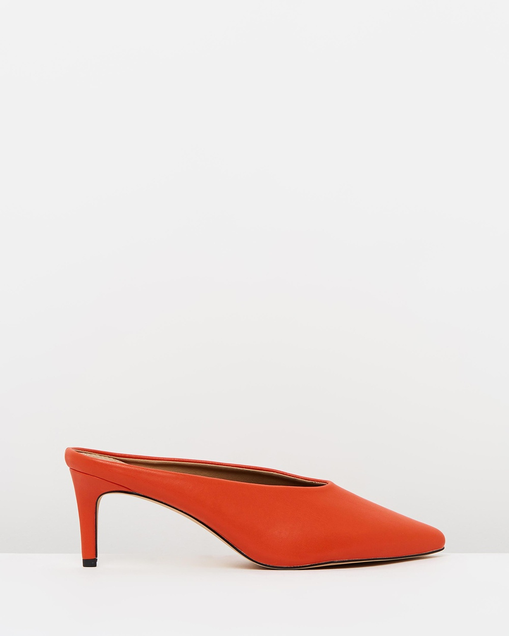 SPURR ICONIC EXCLUSIVE Olly Kitten Heel Mules Mid-low heels Red Smooth ICONIC EXCLUSIVE Olly Kitten Heel Mules