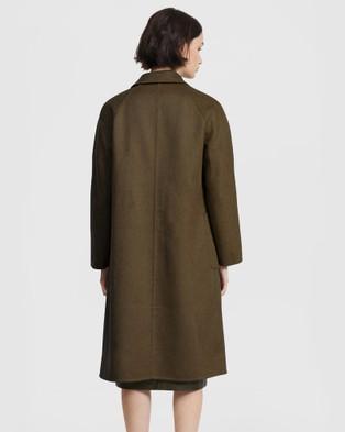 ARIS Double Face Belted Coat - Coats & Jackets (Khaki)