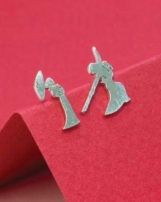 Short Story Disney Earring Mulan Poised & Battle - Jewellery (Silver)