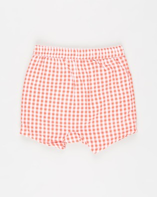 Cotton On Baby - Kelly Shorts Babies Bloomers (Red Orange & Mini Gingham)