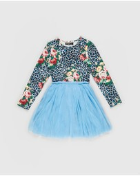Rock Your Kid - Leopard Floral Circus Dress - Kids