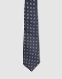 Oxford - Silk Texture With Spot Tie