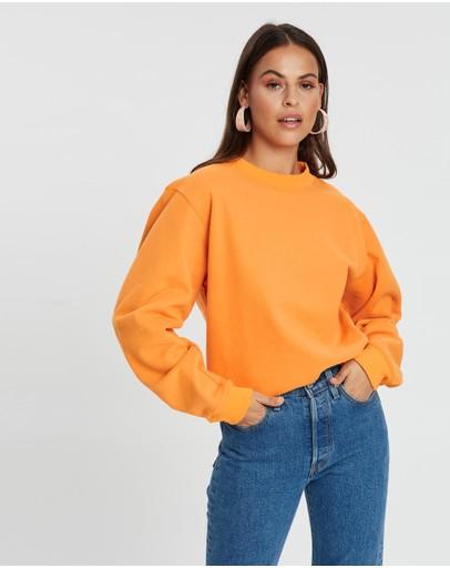 Dazie Front Runner Oversized Sweat Top Orange