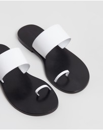 Atmos&Here - Anais Leather Slides
