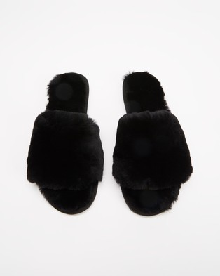 Emu - Myna Slippers & Accessories (Black)