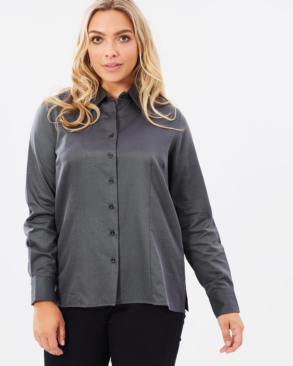 Alison Dominy Andrea Shirt Tops Black/Silver Andrea Shirt