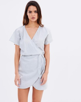 Lilya – Therese Dress – Dresses (Grey Stripe)