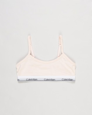 Calvin Klein Modern Cotton 2 Pack Classic Crop Teens Multi-Packs Heather Grey & Crystal Pink