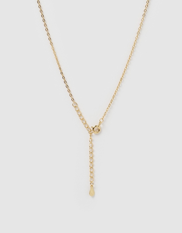 Women Crystal Letter S Necklace Gold
