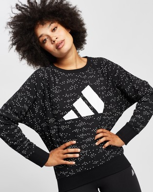 adidas Performance Winners Badge of Sport Crew Sweatshirt - Crew Necks (Black)