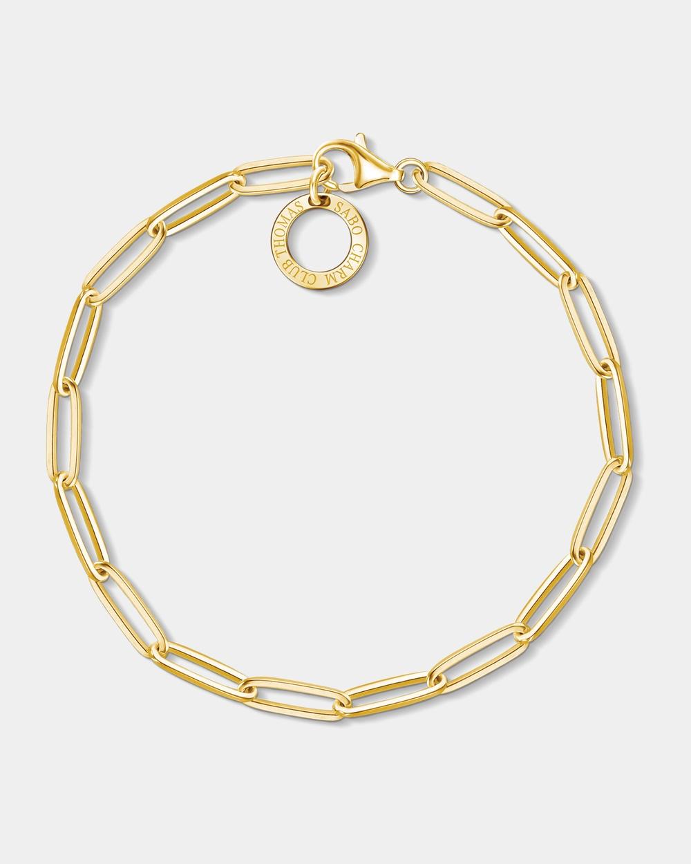 THOMAS SABO Yellow Gold Plated Long Link Bracelet Jewellery Yellow