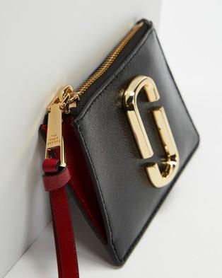 The Marc Jacobs Top Zip Multi Wallet - Wallets (Black & Chianti)