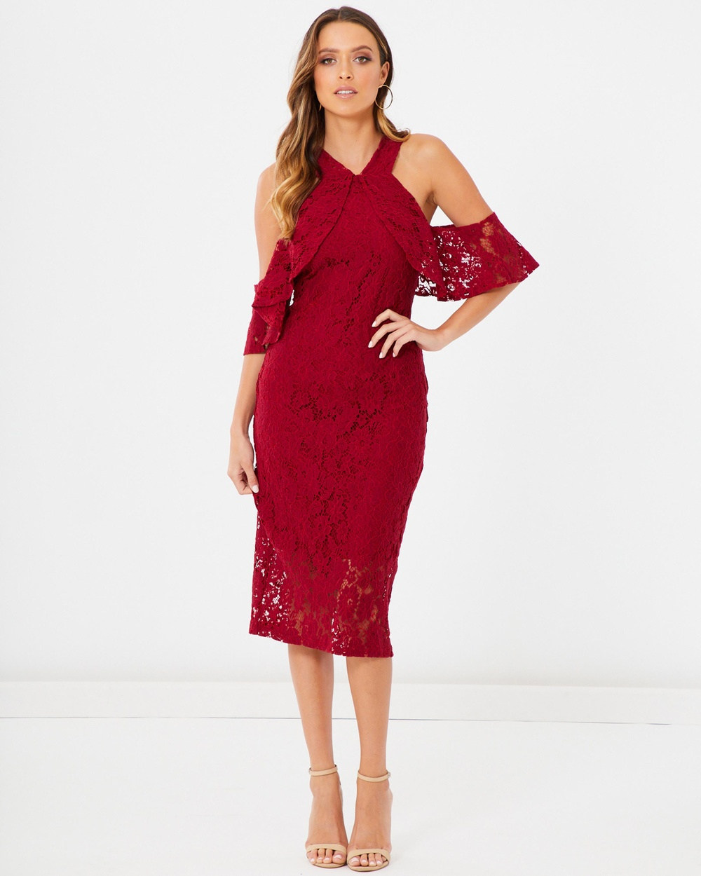 Photo of Tussah Deep Red Elizabeth Lace Dress - beautiful dress from Tussah online