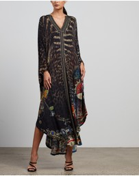 Camilla - Jersey Long Kaftan with Rounded Hem
