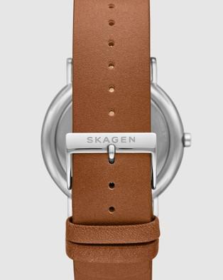 Skagen Signatur Men's Analogue Watch - Watches (Brown)