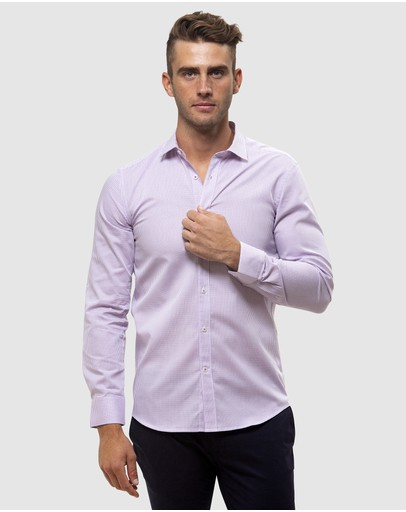 Brooksfield - Career Chambray Dobby Business Shirt