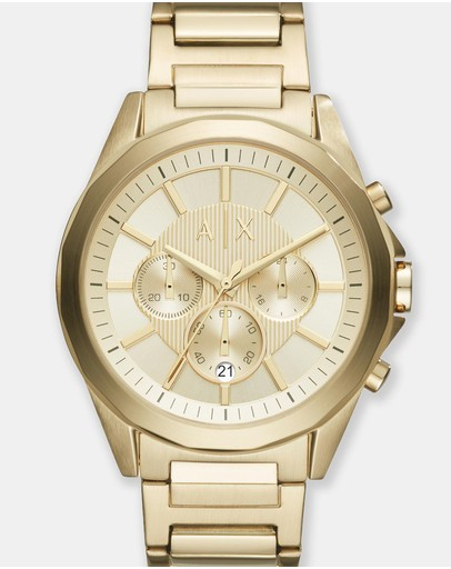 Armani Exchange - Gold-Tone Chronograph Watch