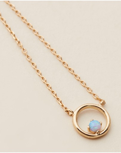 Estella Bartlett Opal Circle Necklace Gold Plated