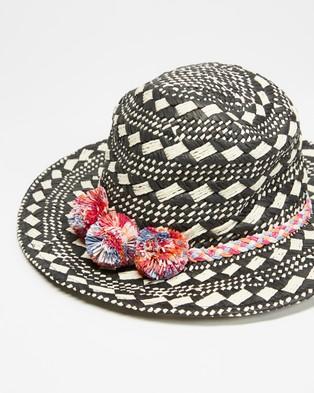 TOPSHOP - Desi Round Hat - Hats (Cream & Black) Desi Round Hat