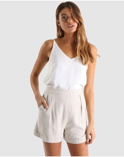 Madison The Label Menzie Shorts Beige