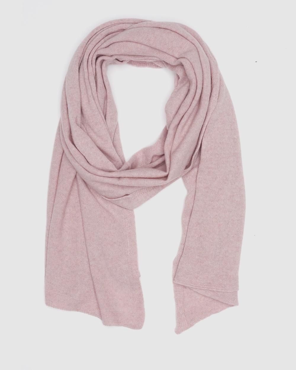 Kate & Confusion Cashmere Blend Scarf Scarves Gloves Pink