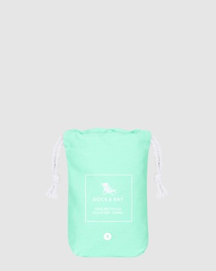 Dock & Bay Small Fitness Towel 100% Recycled Essential Collection - Gym & Yoga (Green)