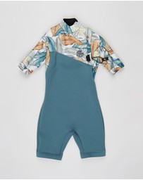 Rip Curl - E-Bomb 2/2mm Zip Free Spring Suit - Kids - Teens