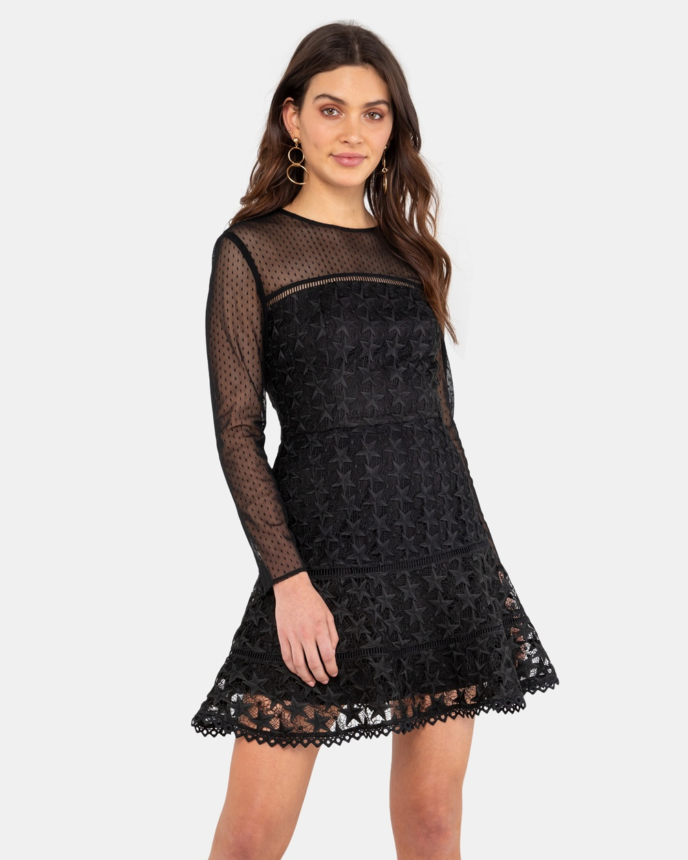Rodeo Show Shooting Star Dress Dresses Black Shooting Star Dress