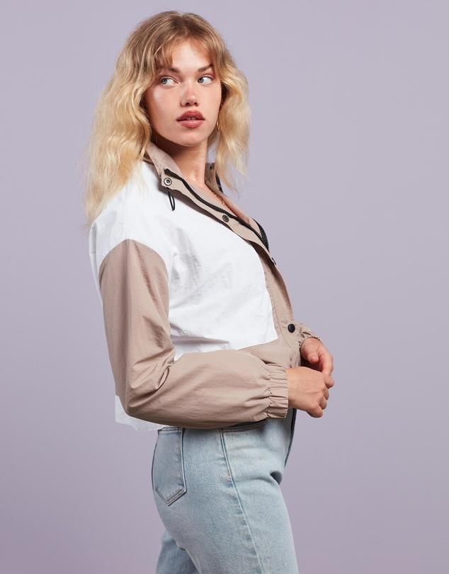 Women Tonal Colourblock Co-Ord Windbreaker