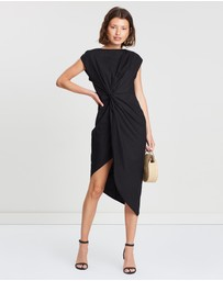 FRIEND of AUDREY - Bailey Twist Midi Dress