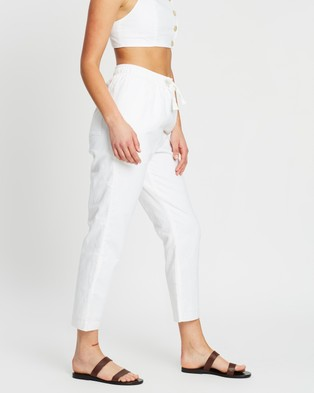 Nude Lucy Nude Classic Linen Pants - Pants (White)
