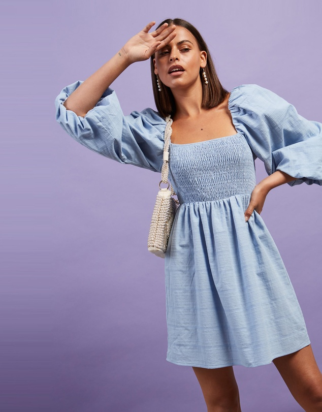 Dazie - Averi Puff Sleeve Mini Dress