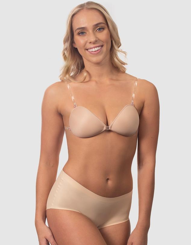 Women Sleek Stick On Bra with Straps
