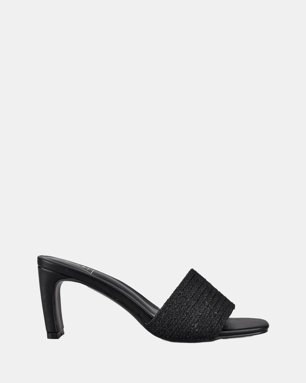 St Sana Daphne Mules Sandals Black Australia