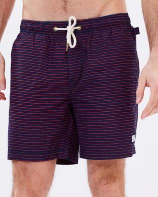 Academy Brand – Preston Boardshorts – Shorts (Navy & Red)