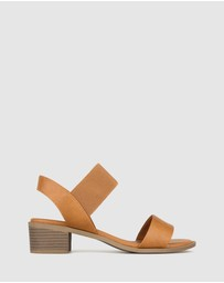 Zeroe - Honey Wide Fit Block Heel Sandals